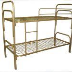 Двухъярусные металлические кровати для общежитий, кровати одноярусные армейские оптом