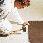 Полимерная плитка для пола, напольное покрытие в торговый комплекс