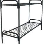 Двухъярусные кровати металлические для казарм и тюрем